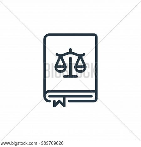law book icon isolated on white background from law and justice collection. law book icon trendy and