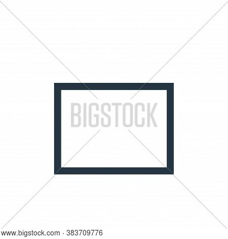 rectangle icon isolated on white background from vector editing collection. rectangle icon trendy an