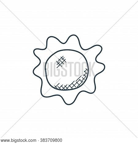 sun icon isolated on white background from space and aircraft collection. sun icon trendy and modern