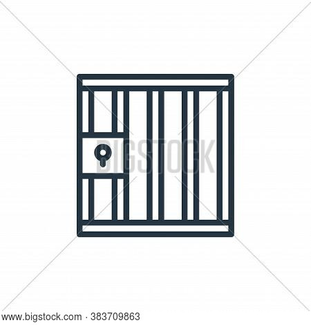 prison icon isolated on white background from crime collection. prison icon trendy and modern prison