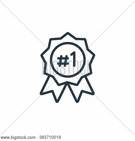rank icon isolated on white background from seo and website collection. rank icon trendy and modern