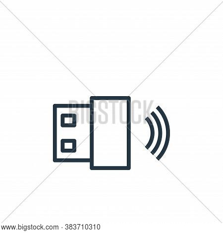 wireless icon isolated on white background from computer collection. wireless icon trendy and modern
