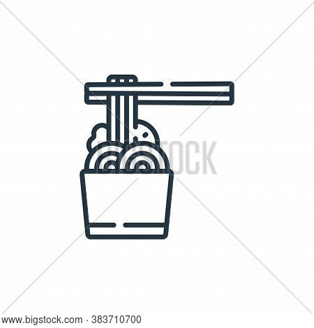 noodles icon isolated on white background from fast food collection. noodles icon trendy and modern
