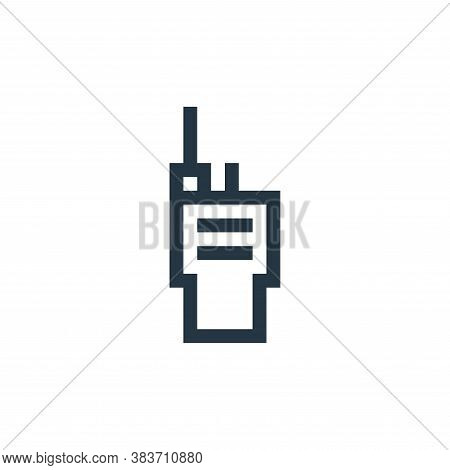 walkie talkie icon isolated on white background from taxi service collection. walkie talkie icon tre