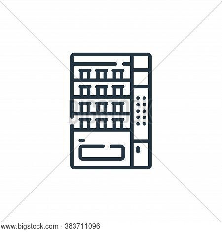 vending machine icon isolated on white background from fast food collection. vending machine icon tr