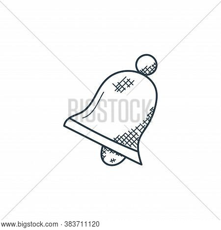 bell icon isolated on white background from music collection. bell icon trendy and modern bell symbo