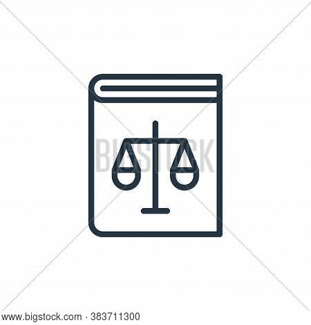 law book icon isolated on white background from crime collection. law book icon trendy and modern la