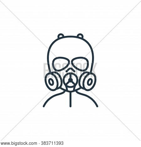 gas mask icon isolated on white background from air pollution collection. gas mask icon trendy and m