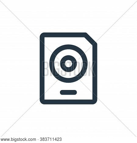 document icon isolated on white background from disc tool line collection. document icon trendy and