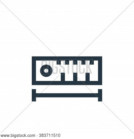 ruler icon isolated on white background from vector editing collection. ruler icon trendy and modern