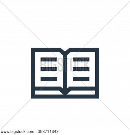 open book icon isolated on white background from education collection. open book icon trendy and mod