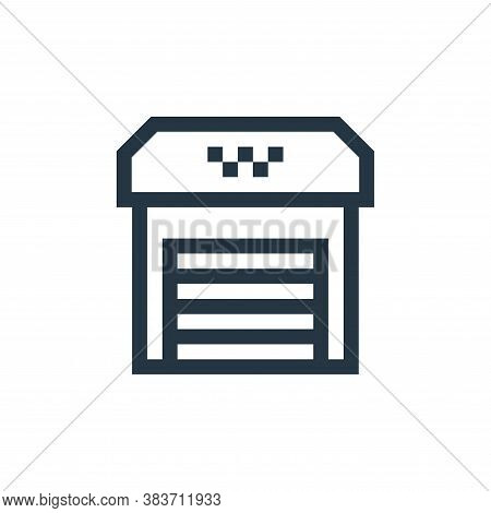garage icon isolated on white background from taxi service collection. garage icon trendy and modern