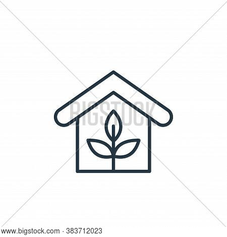 eco home icon isolated on white background from smarthome collection. eco home icon trendy and moder