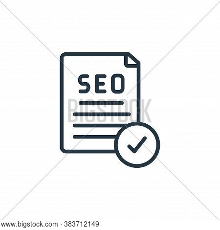seo icon isolated on white background from seo and website collection. seo icon trendy and modern se