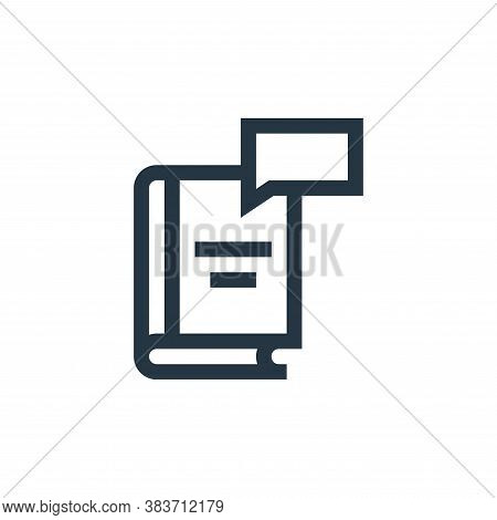 book icon isolated on white background from message collection. book icon trendy and modern book sym