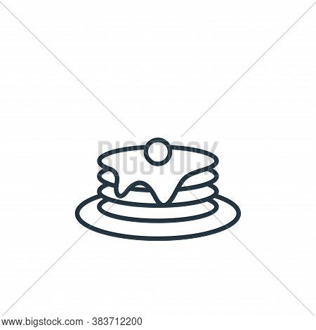 pancake icon isolated on white background from bakery collection. pancake icon trendy and modern pan