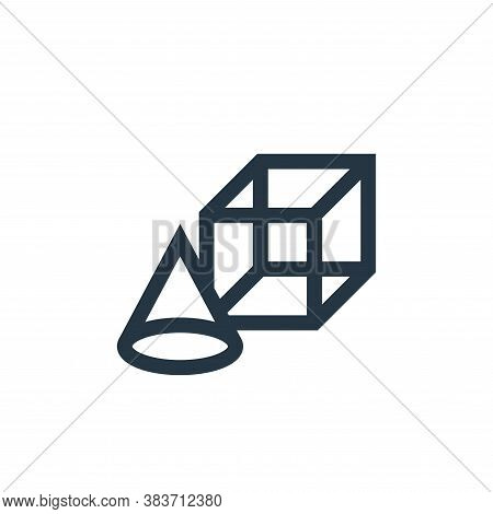 geometry icon isolated on white background from education collection. geometry icon trendy and moder