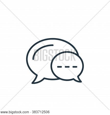 chat icon isolated on white background from e commerce collection. chat icon trendy and modern chat