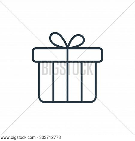 gift icon isolated on white background from e commerce collection. gift icon trendy and modern gift