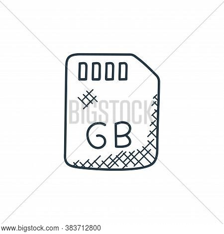 memory card icon isolated on white background from music collection. memory card icon trendy and mod