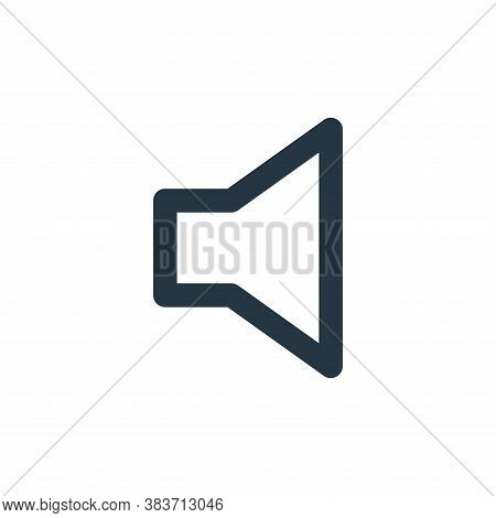 volume icon isolated on white background from basic ui collection. volume icon trendy and modern vol