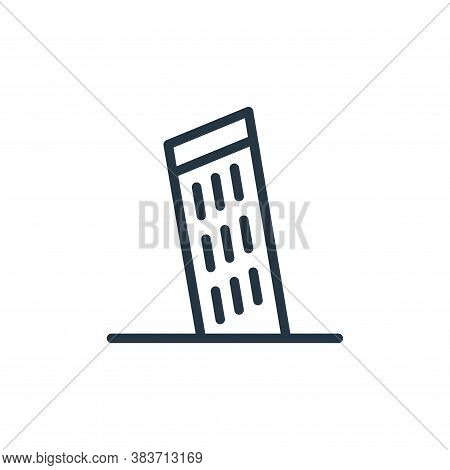 pisa icon isolated on white background from travel collection. pisa icon trendy and modern pisa symb