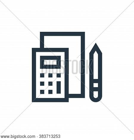 budget icon isolated on white background from economy collection. budget icon trendy and modern budg