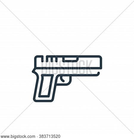 gun icon isolated on white background from law and justice collection. gun icon trendy and modern gu
