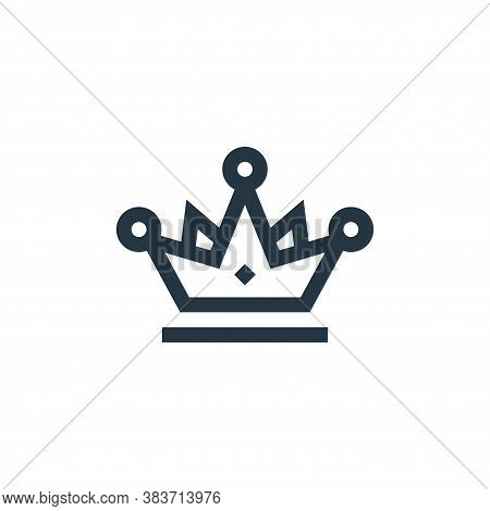 crown icon isolated on white background from mothers day collection. crown icon trendy and modern cr