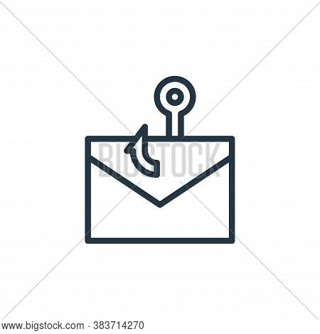 phishing icon isolated on white background from crime collection. phishing icon trendy and modern ph