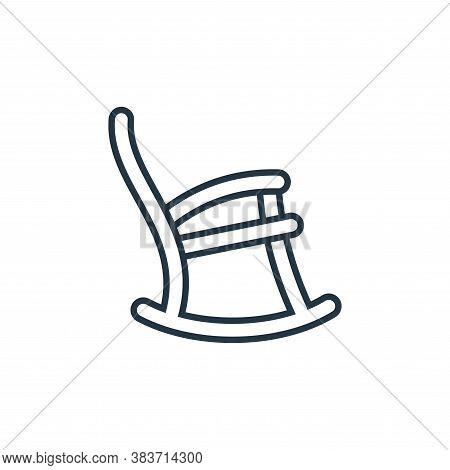 rocking chair icon isolated on white background from furniture collection. rocking chair icon trendy