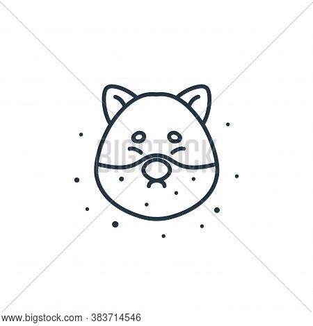 dog icon isolated on white background from air pollution collection. dog icon trendy and modern dog