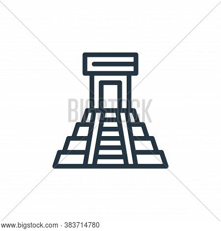 temple icon isolated on white background from travel collection. temple icon trendy and modern templ