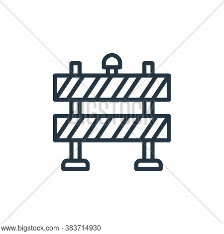 road blockade icon isolated on white background from labour day collection. road blockade icon trend
