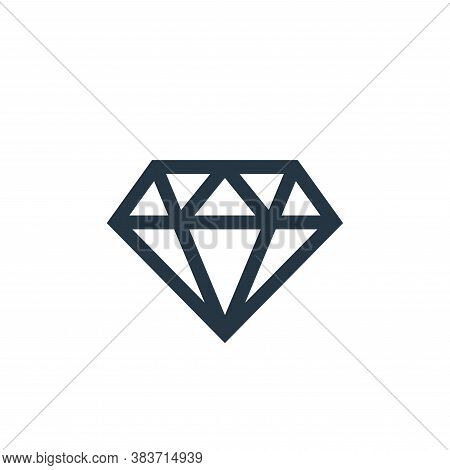 diamond icon isolated on white background from mothers day collection. diamond icon trendy and moder