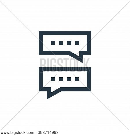 speech bubbles icon isolated on white background from message collection. speech bubbles icon trendy
