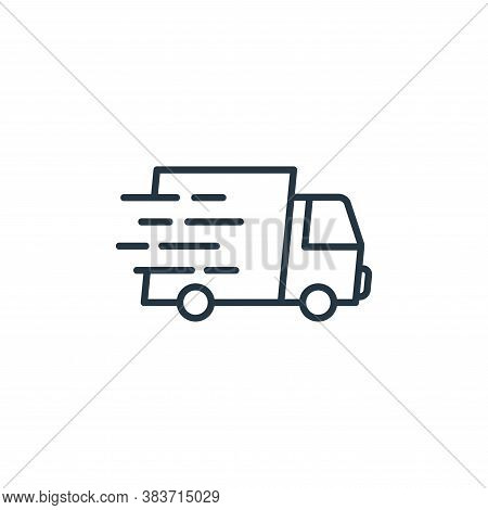fast delivery icon isolated on white background from e commerce collection. fast delivery icon trend