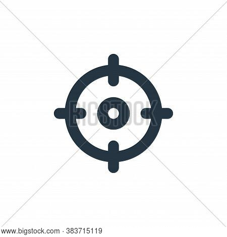 focus icon isolated on white background from basic ui collection. focus icon trendy and modern focus