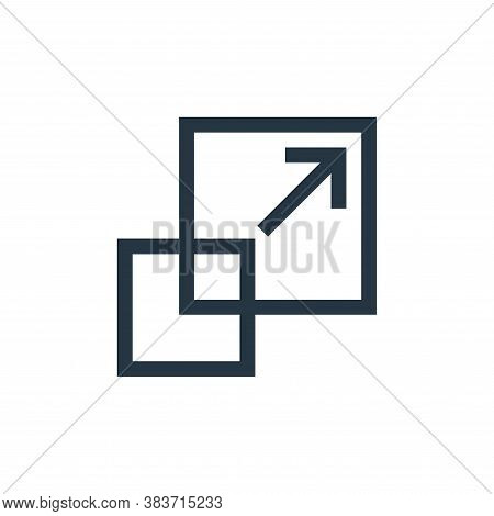 scale icon isolated on white background from vector editing collection. scale icon trendy and modern