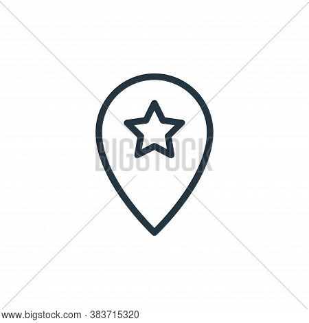 pin icon isolated on white background from seo collection. pin icon trendy and modern pin symbol for