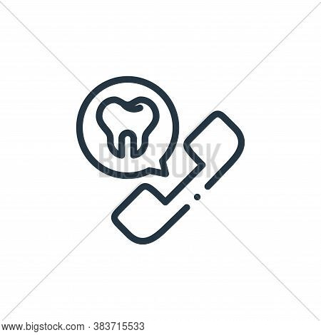 appointment icon isolated on white background from dentist collection. appointment icon trendy and m