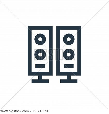 audio system icon isolated on white background from electronic collection. audio system icon trendy