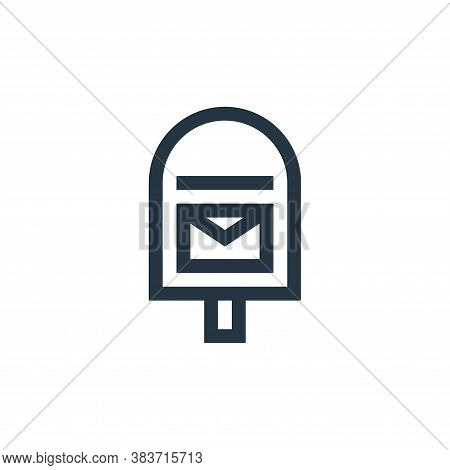 mailbox icon isolated on white background from message collection. mailbox icon trendy and modern ma