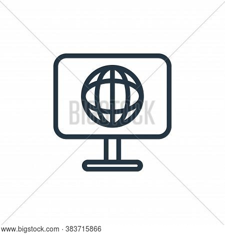 web icon isolated on white background from seo collection. web icon trendy and modern web symbol for
