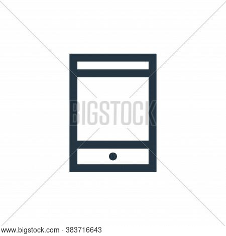 smartphone icon isolated on white background from electronic collection. smartphone icon trendy and