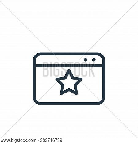 starred icon isolated on white background from seo collection. starred icon trendy and modern starre