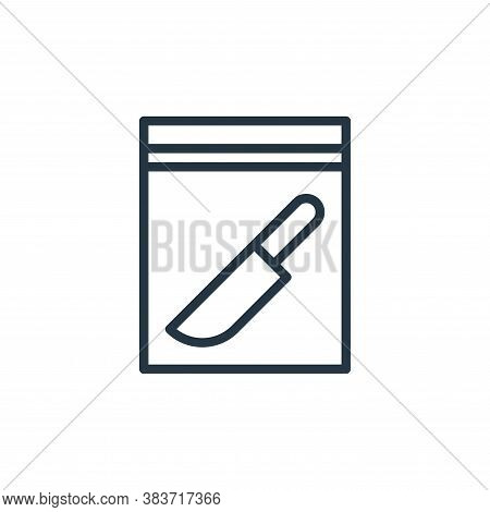 evidence icon isolated on white background from crime collection. evidence icon trendy and modern ev