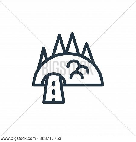 road icon isolated on white background from travel collection. road icon trendy and modern road symb