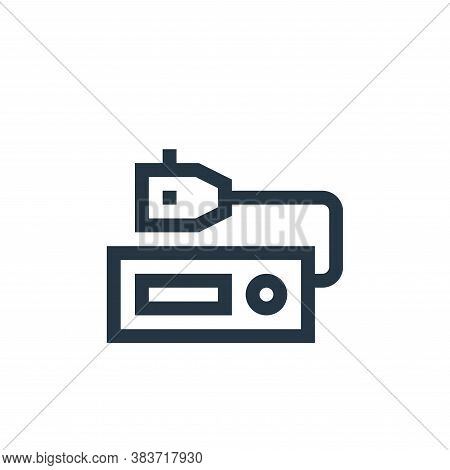 radio icon isolated on white background from taxi service collection. radio icon trendy and modern r