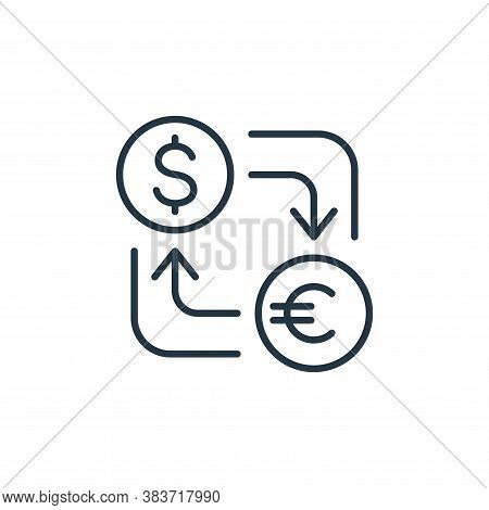 currency icon isolated on white background from finance collection. currency icon trendy and modern
